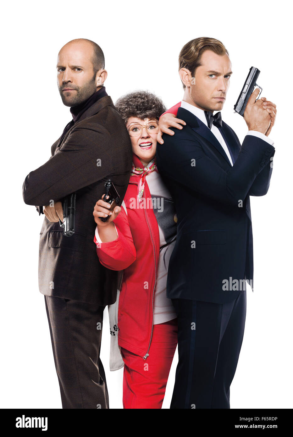 Spy Year : 2015 USA Director : Paul Feig Jason Statham, Melissa McCarthy, Jude Law Movie poster (textless) - Stock Image