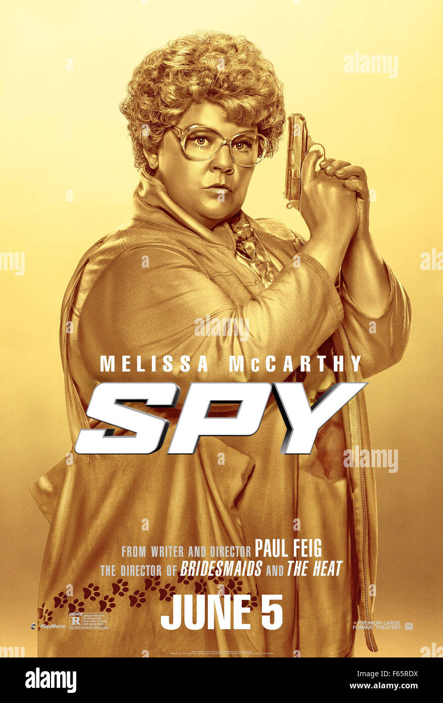 Spy Year : 2015 USA Director : Paul Feig Melissa McCarthy Movie poster (USA) - Stock Image