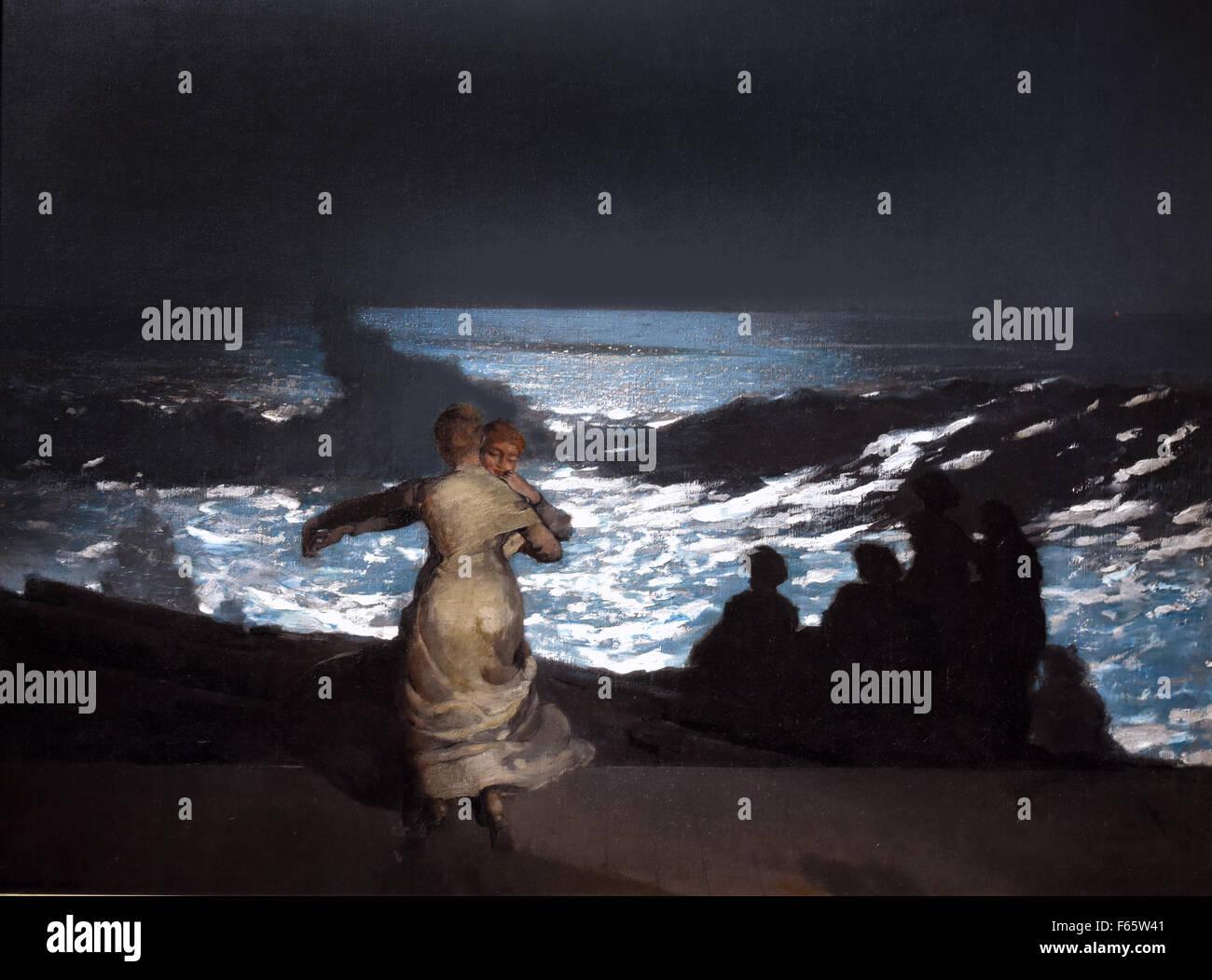 Nuit d`Été - Summer night 1890 Winslow Homer 1836-1910 France French - Stock Image