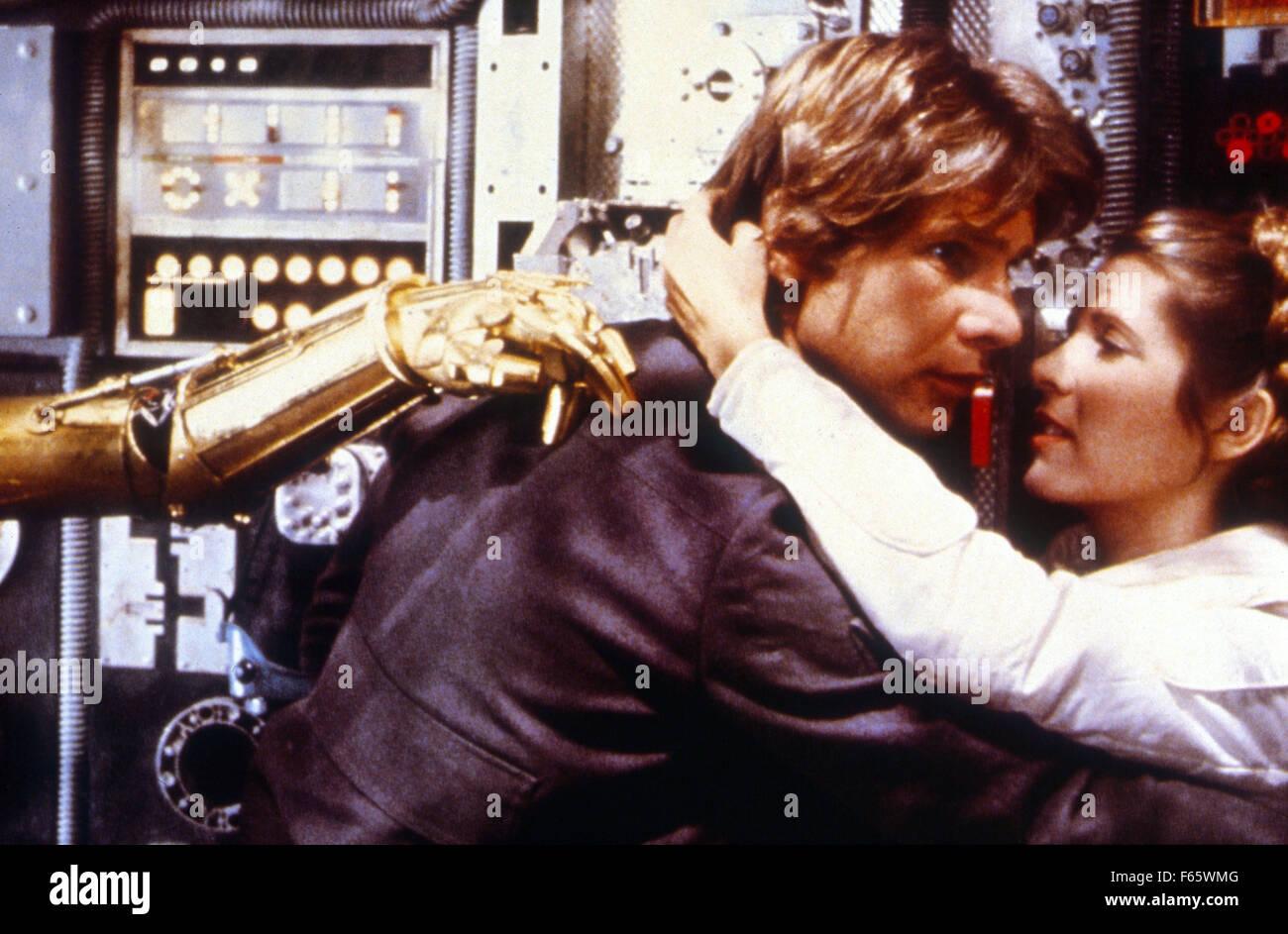 Star Wars: Episode V - The Empire Strikes Back  Year : 1980 USA Director : Irvin Kershner Harrison Ford, Carrie - Stock Image