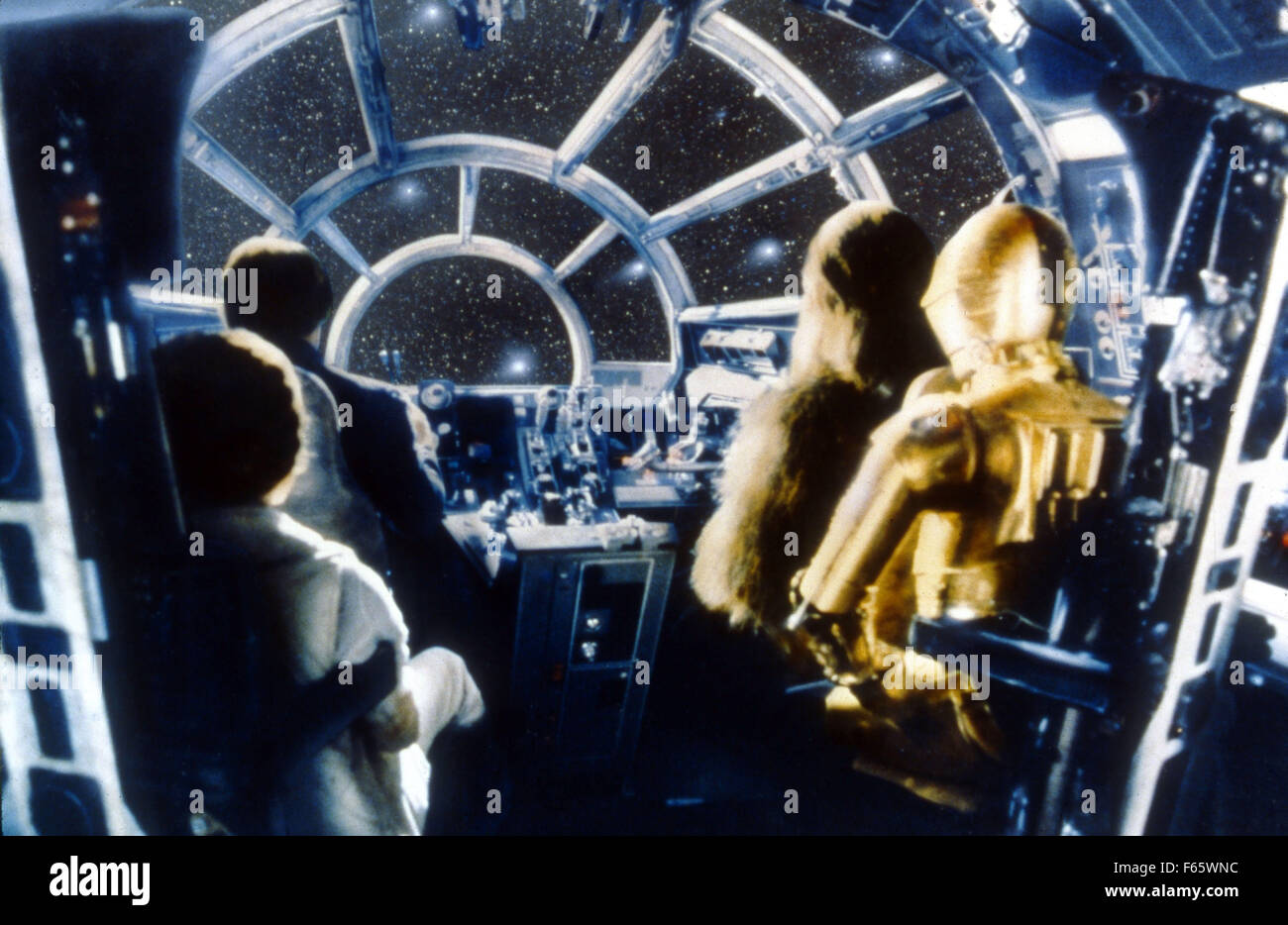 Star Wars: Episode V - The Empire Strikes Back  Year : 1980 USA Director : Irvin Kershner Harrison Ford, Carrie - Stock Image