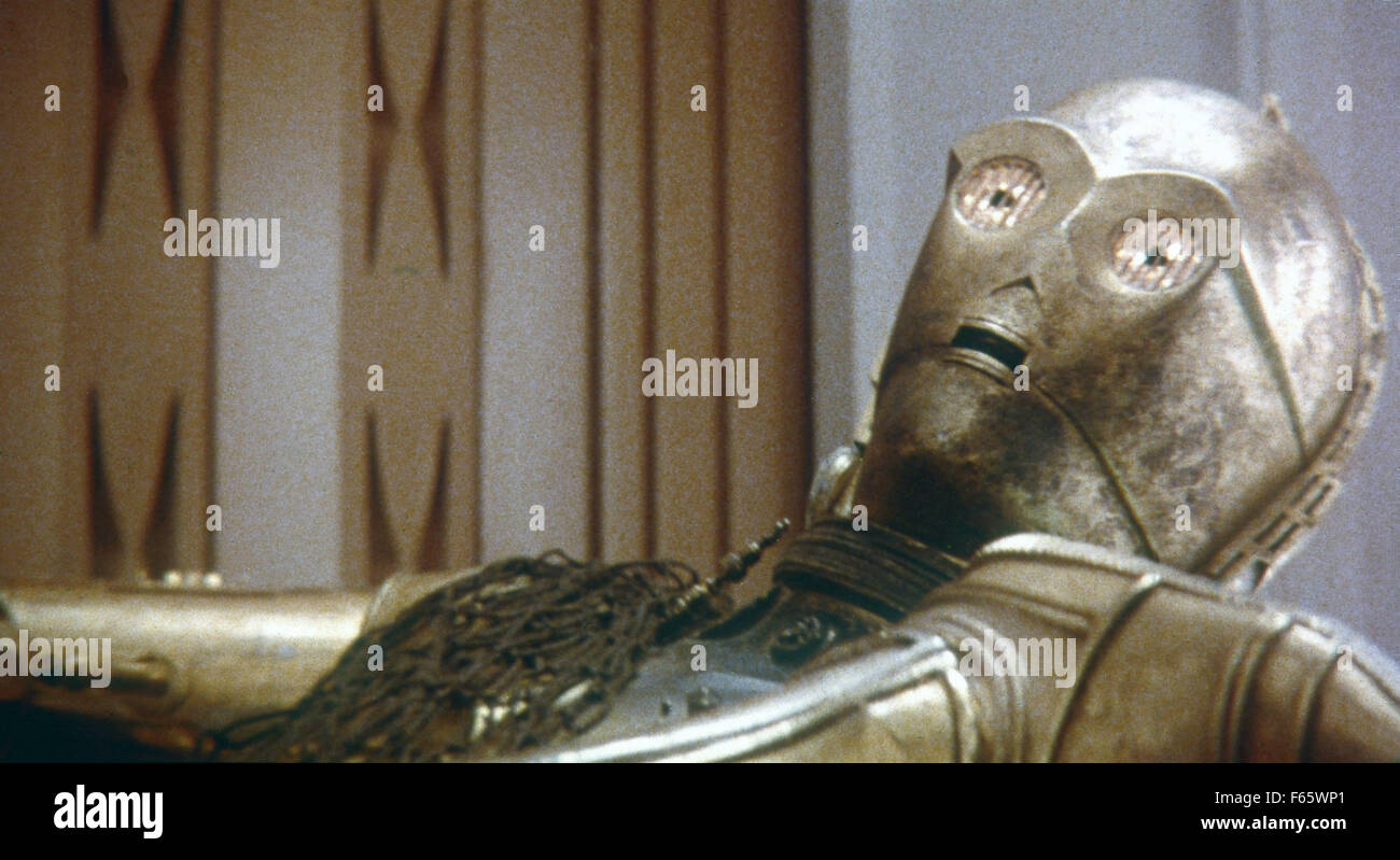 Star Wars: Episode V - The Empire Strikes Back  Year : 1980 USA Director : Irvin Kershner Anthony Daniels - Stock Image