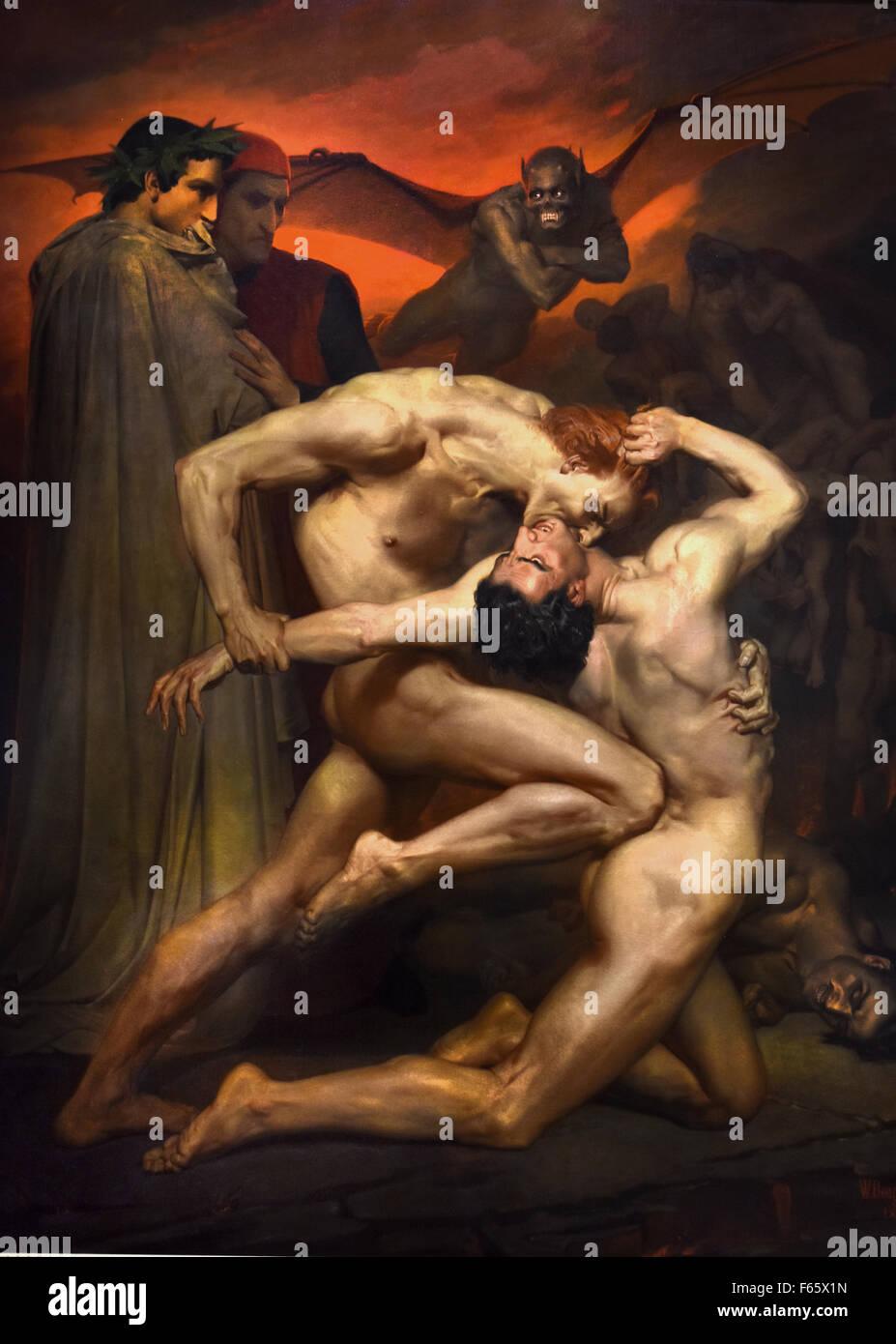 Dante et Virgile 1850 Bouguereau, William 1825 -1905 France French ( Durante degli Alighieri  1265–1321 was a major - Stock Image