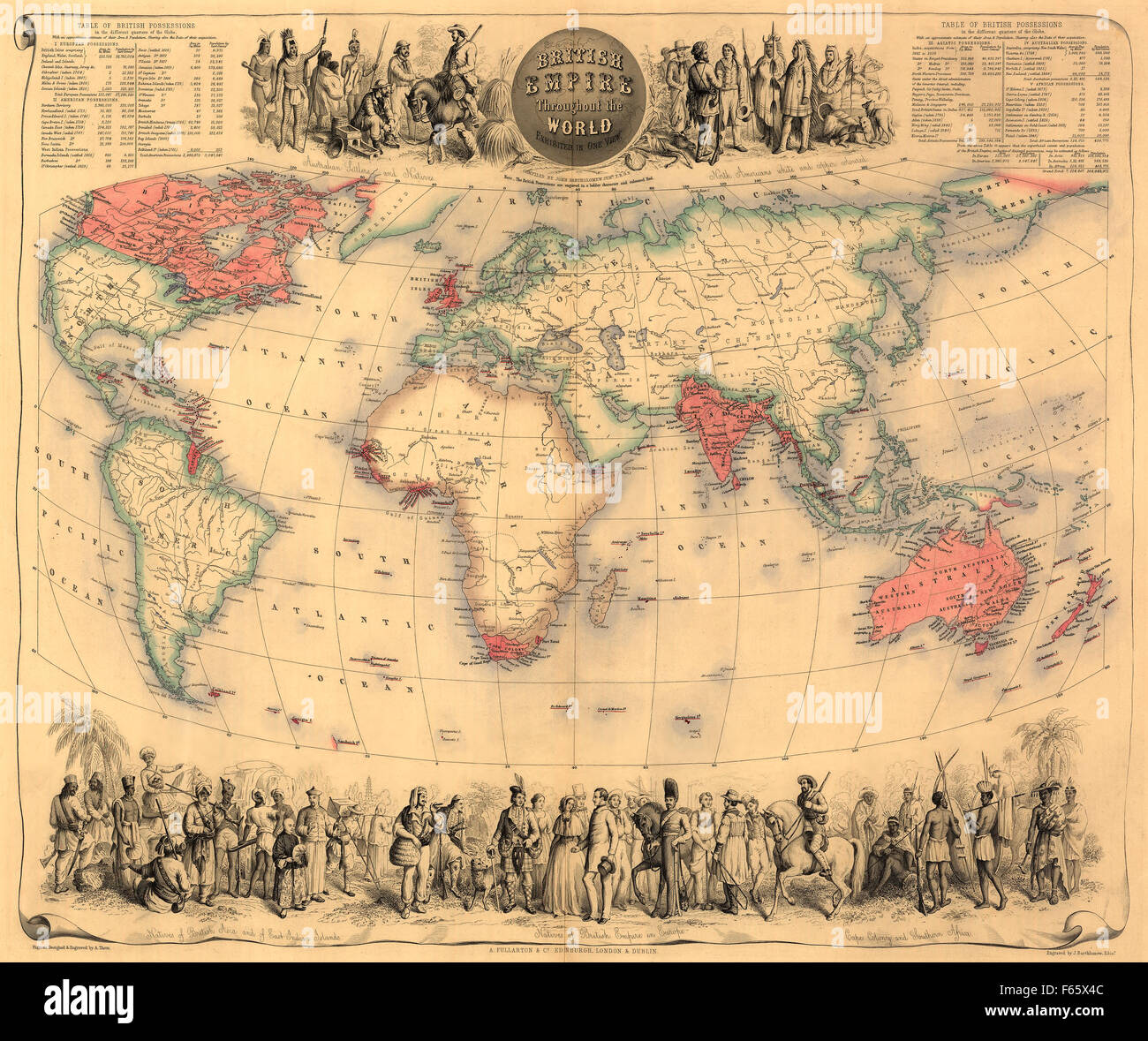 Map of the world circa 1870 with possessions of the british empire map of the world circa 1870 with possessions of the british empire coloured red the map first appeared in fullartons royal illustrated atlas gumiabroncs Gallery