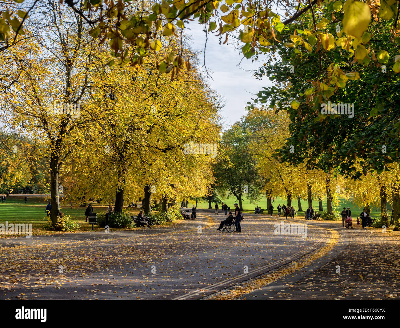 Public park in Greenwich Village, London UK - Stock Image