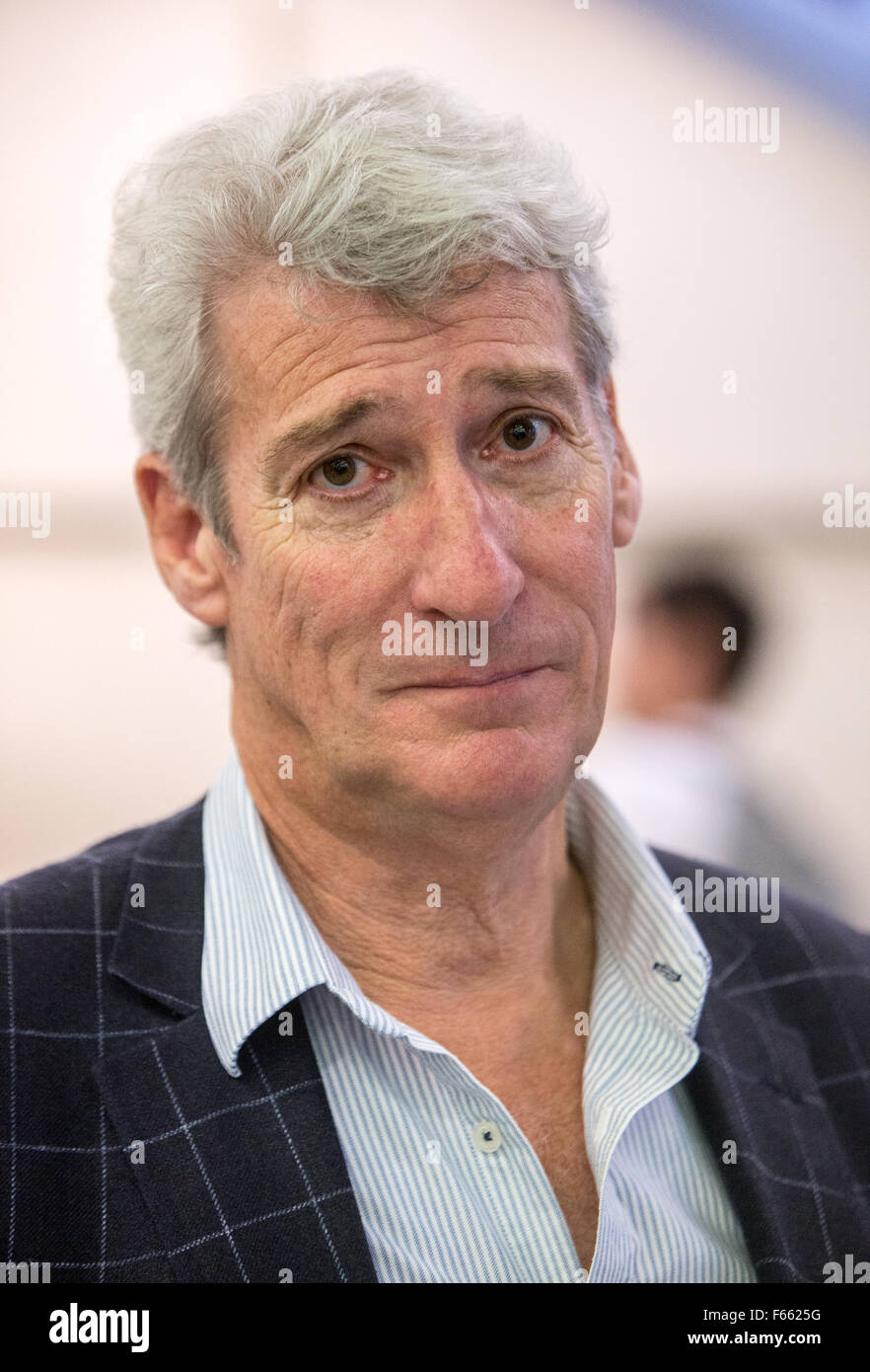 Journalist and broadcaster Jeremy Paxman in London - Stock Image