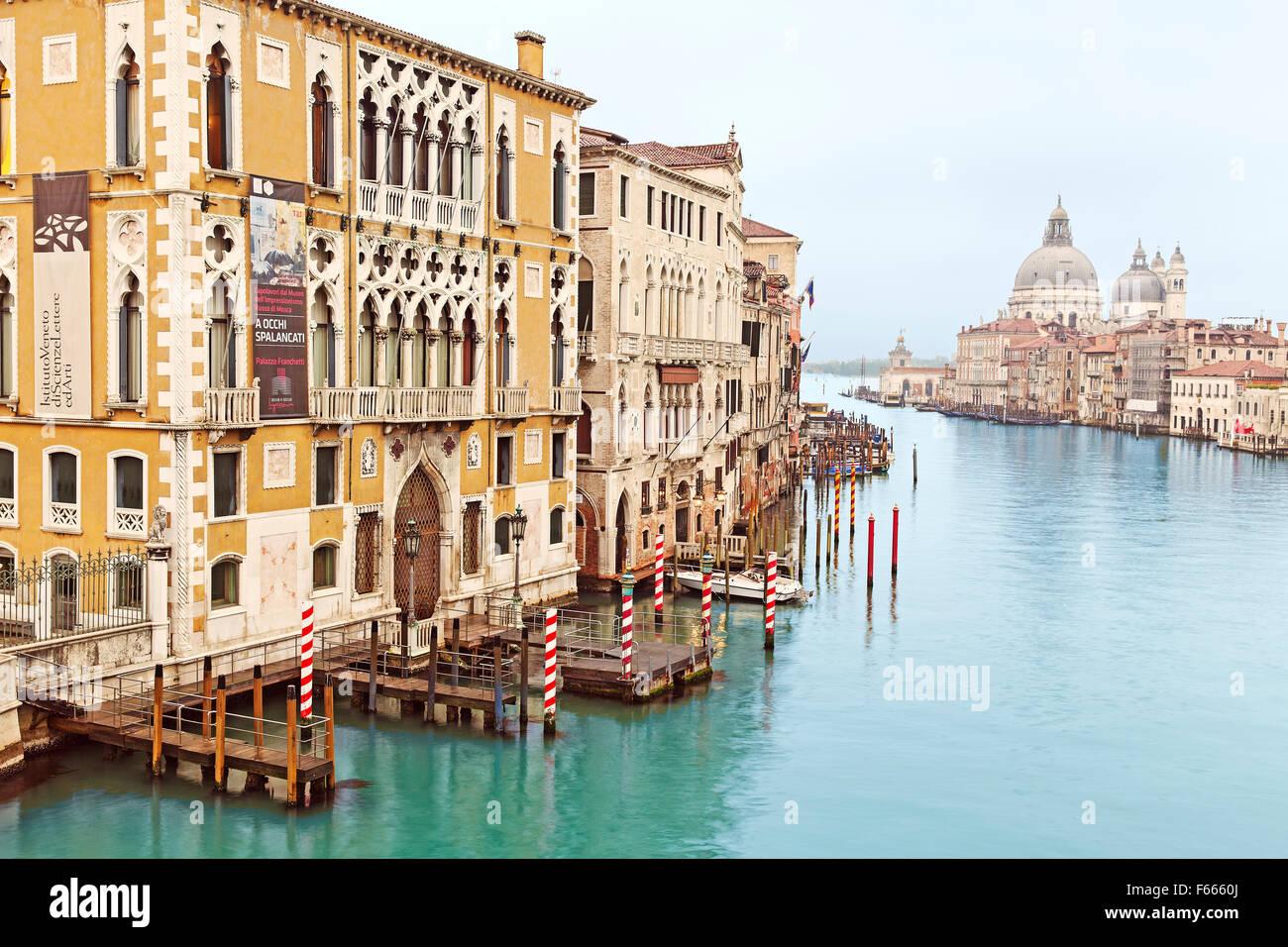 Venice Grand Canal Showing Istituto Veneto Di Scienze Lettere Ed Arti Stock Photo Alamy