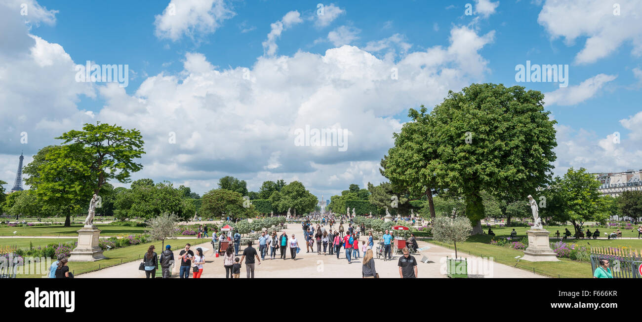 Jardin des Tuileries, Paris, Ile-de-France, France - Stock Image