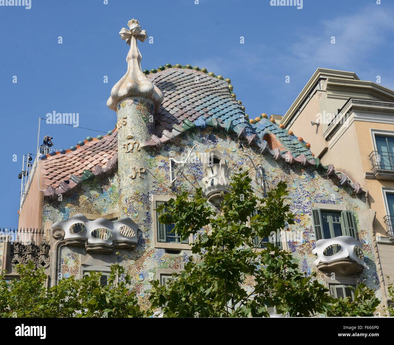 Famous Spanish Architect Antoni Gaudi 1852 1926 Rebuilt The Facade And Interior Of Casa Batllo Under Contract From Textile Manufacturer Josp I