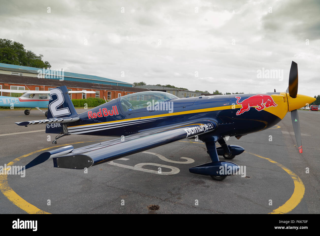 Preparation at Wycombe Airpark for the Red Bull Air Race 2015 at Ascot - Stock Image