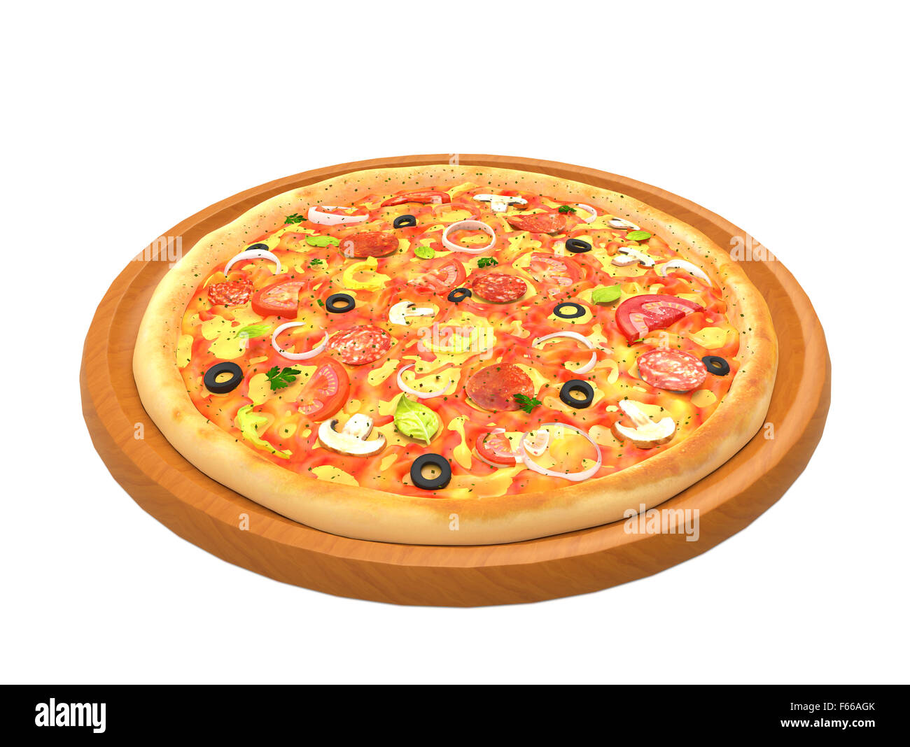 Pizza on a wooden plate  sc 1 st  Alamy & Pizza on a wooden plate Stock Photo: 89879795 - Alamy