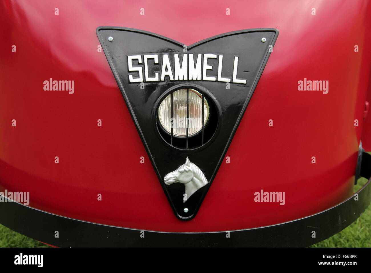 Name plate on a Scammell vehicle - Stock Image