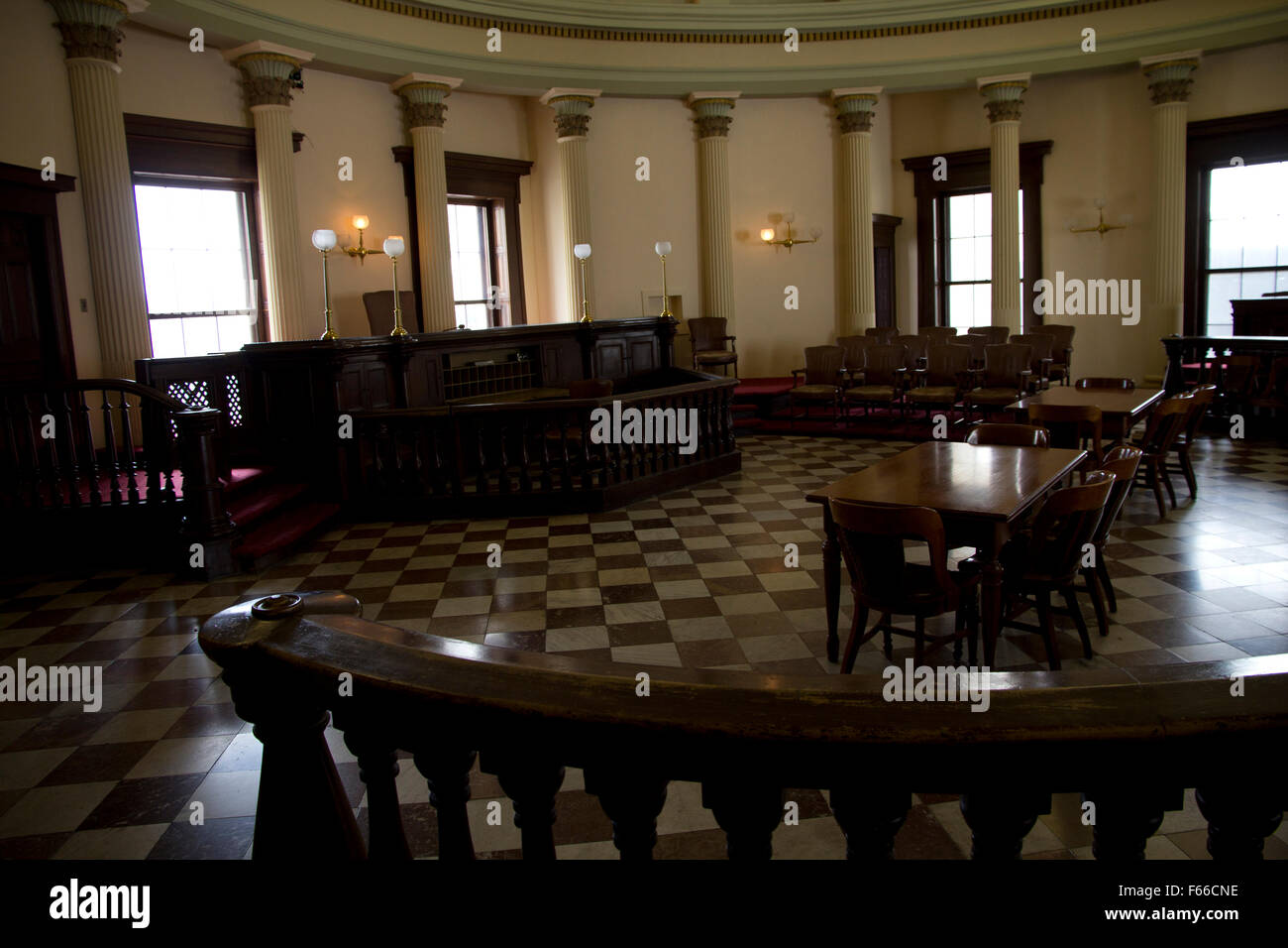 Last used in the 1930s, this courtroom has been restored to its 1860s appearance at the Old Courthouse, St. Louis, - Stock Image
