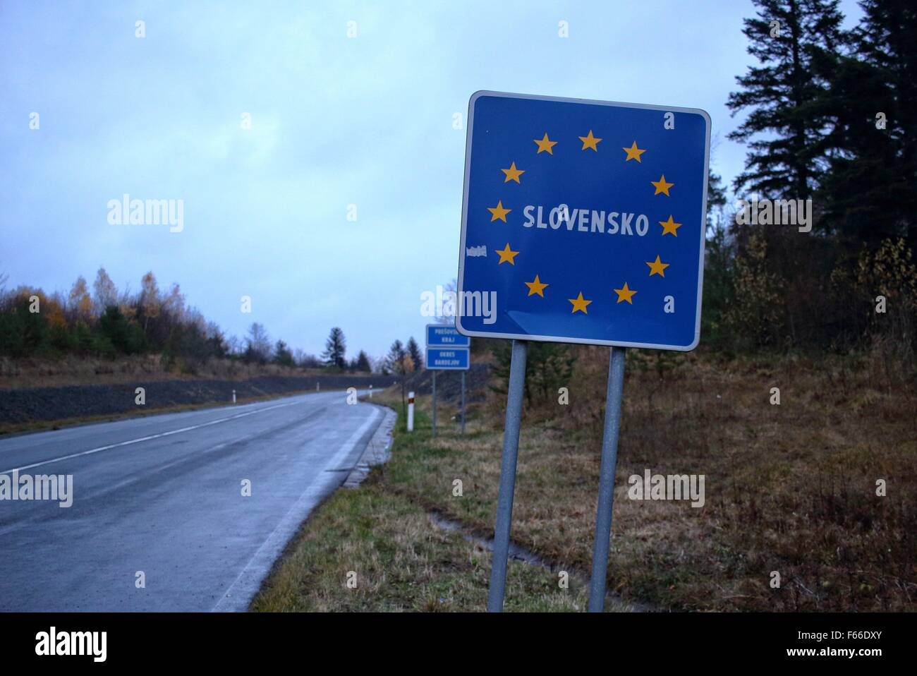 Slovakia-Austria border editorial stock photo. Image of ... |Slovakia Borders