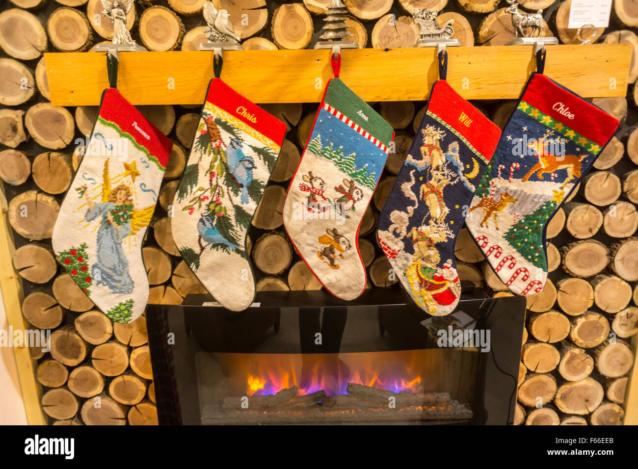 Lands End Christmas Stockings.Christmas Stockings On Display In The Lands End Holiday Pop