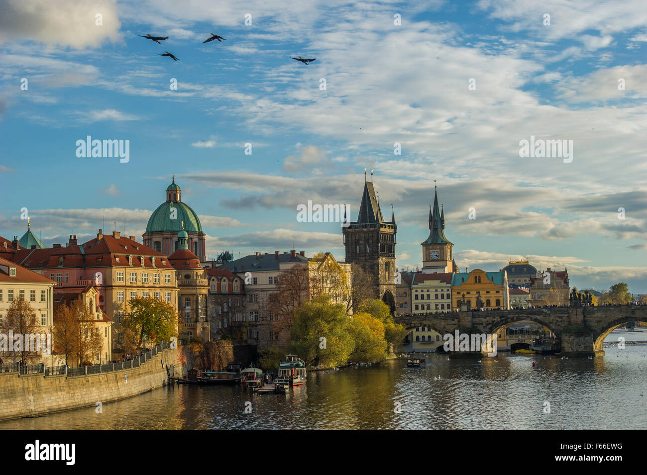 A classic view of Prague - Stock Image