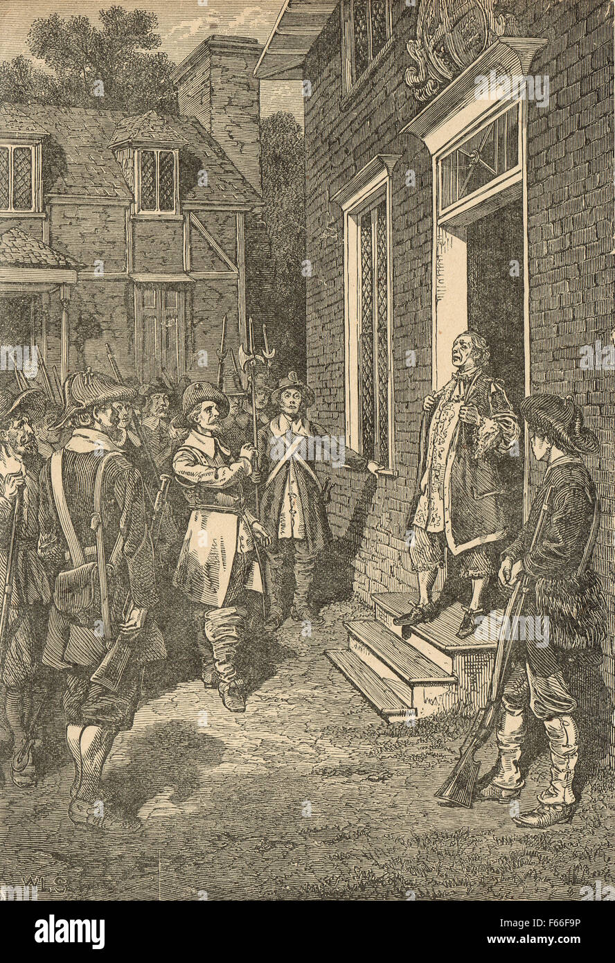 Bacon's rebellion Virginia colony 1676 Stock Photo
