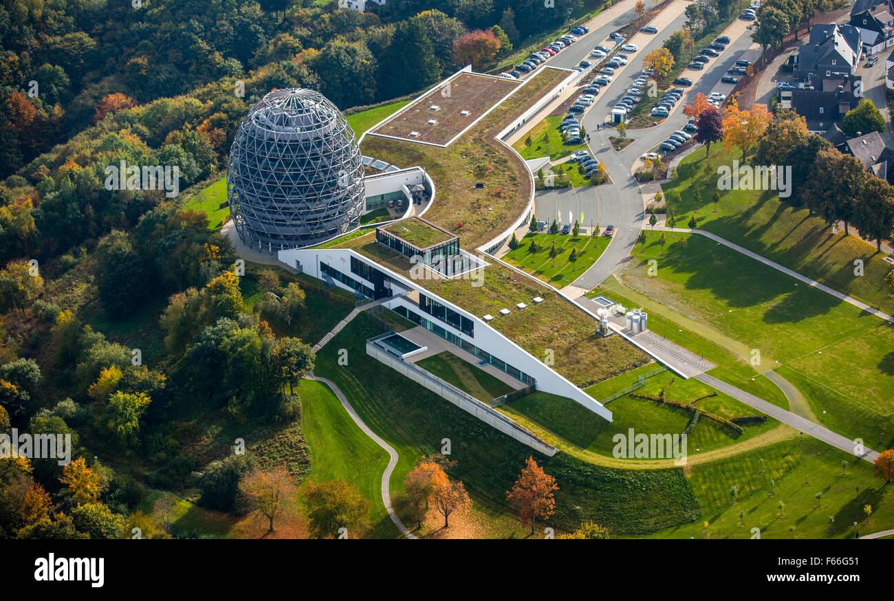 Oversum Vital Resort and Tourist Information, Hotel, Winterberg, Sauerland, North Rhine-Westphalia, Germany, Europe, - Stock Image