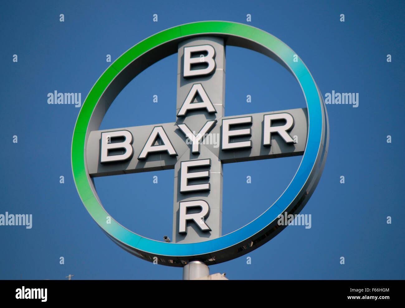 Markennamen: 'Bayer AG', Berlin. - Stock Image