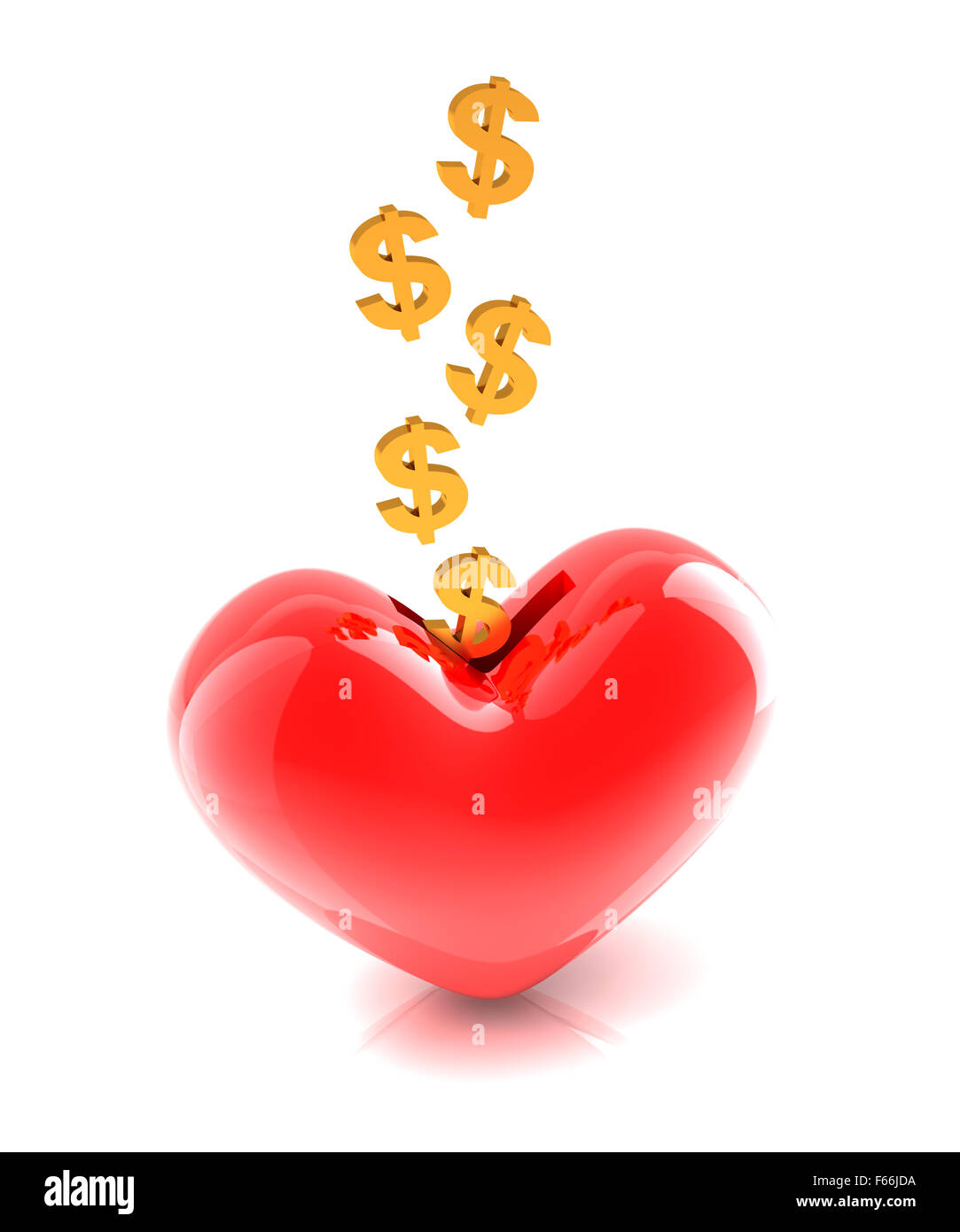 Generous money donation - Stock Image