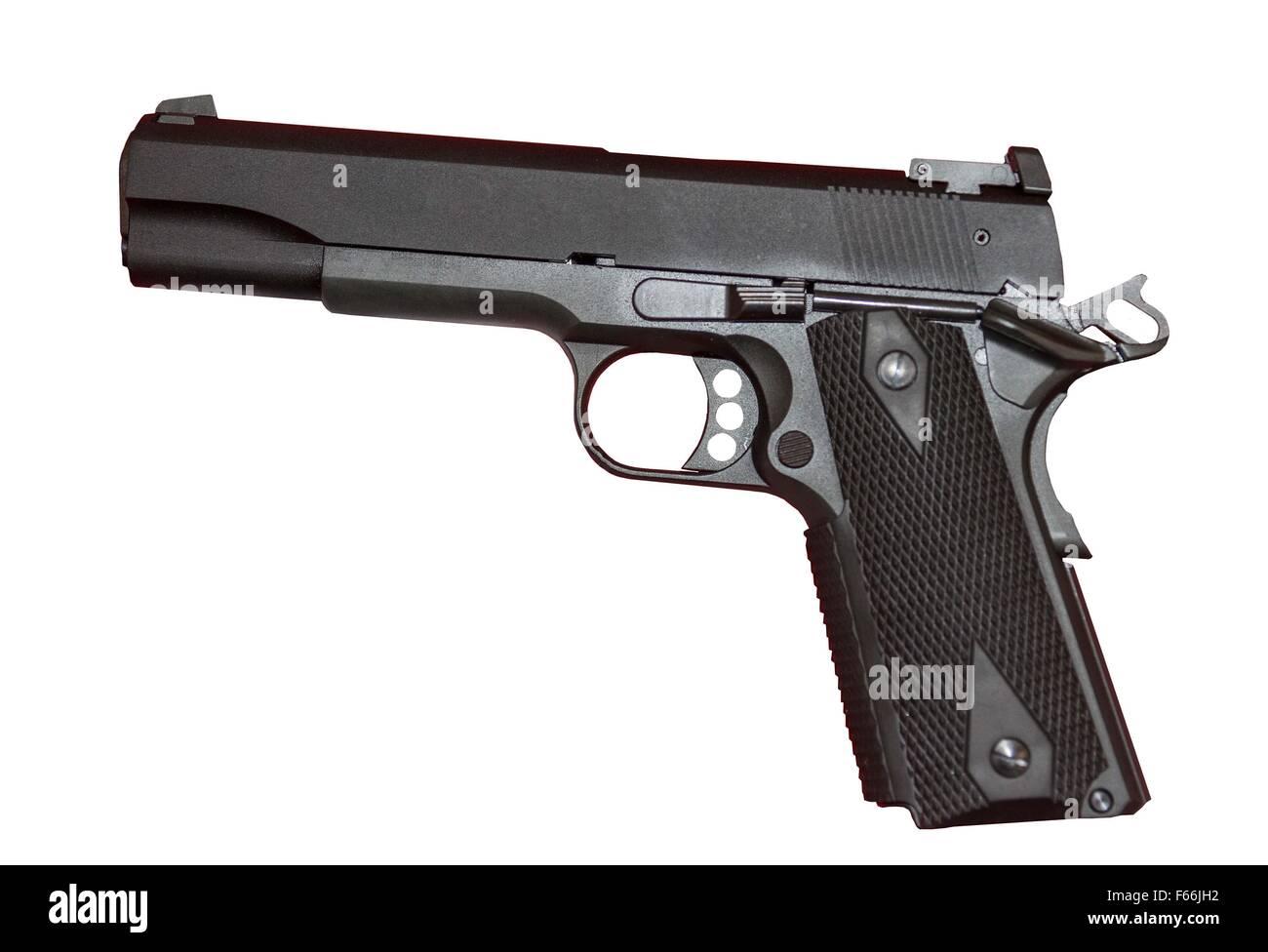 Colt 22 cal. automatic pistol.  Colt Gold Cup Trophy model. - Stock Image