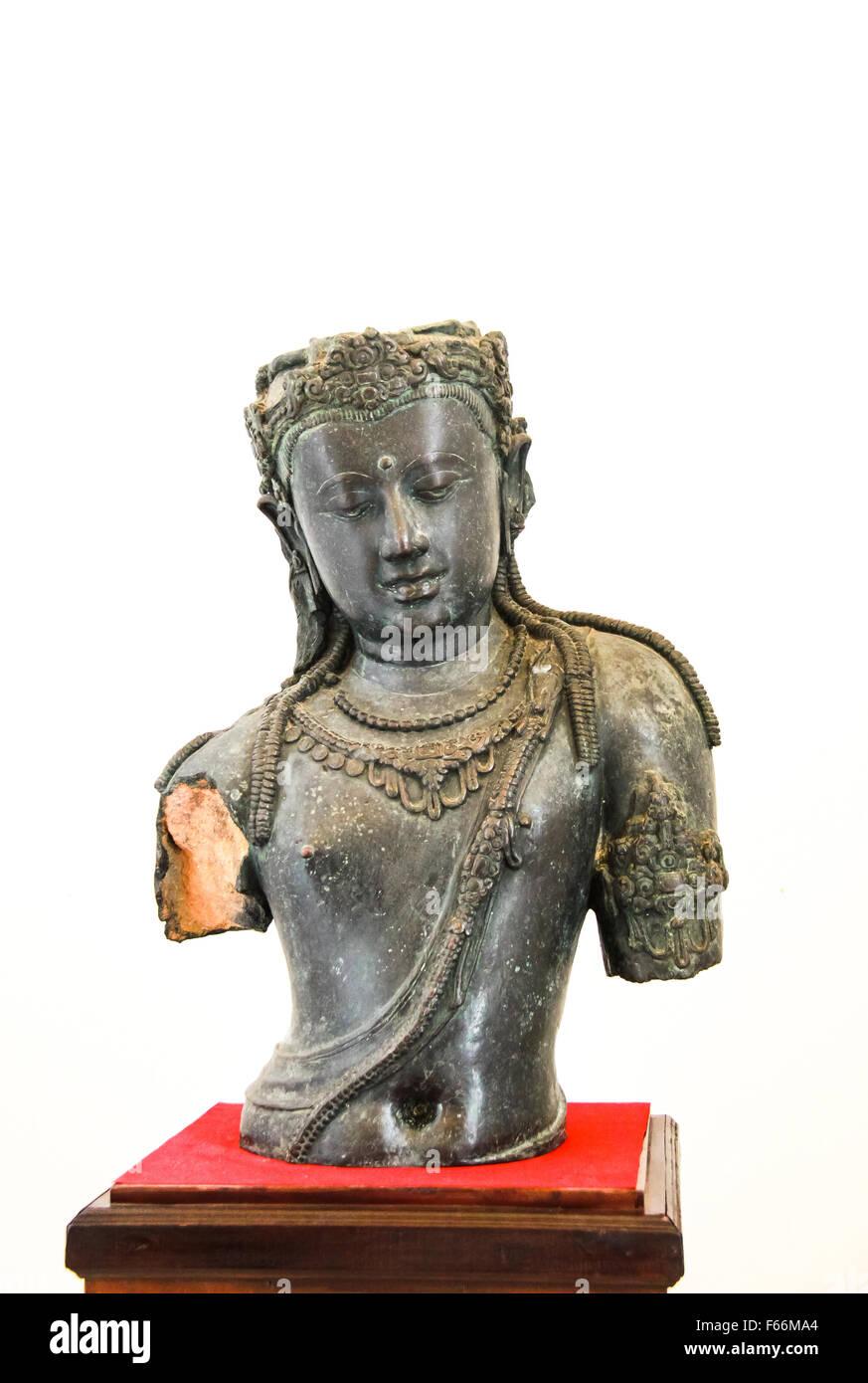 The Antique Bodhisattva Statue - Surat Thani, Thailand - Stock Image