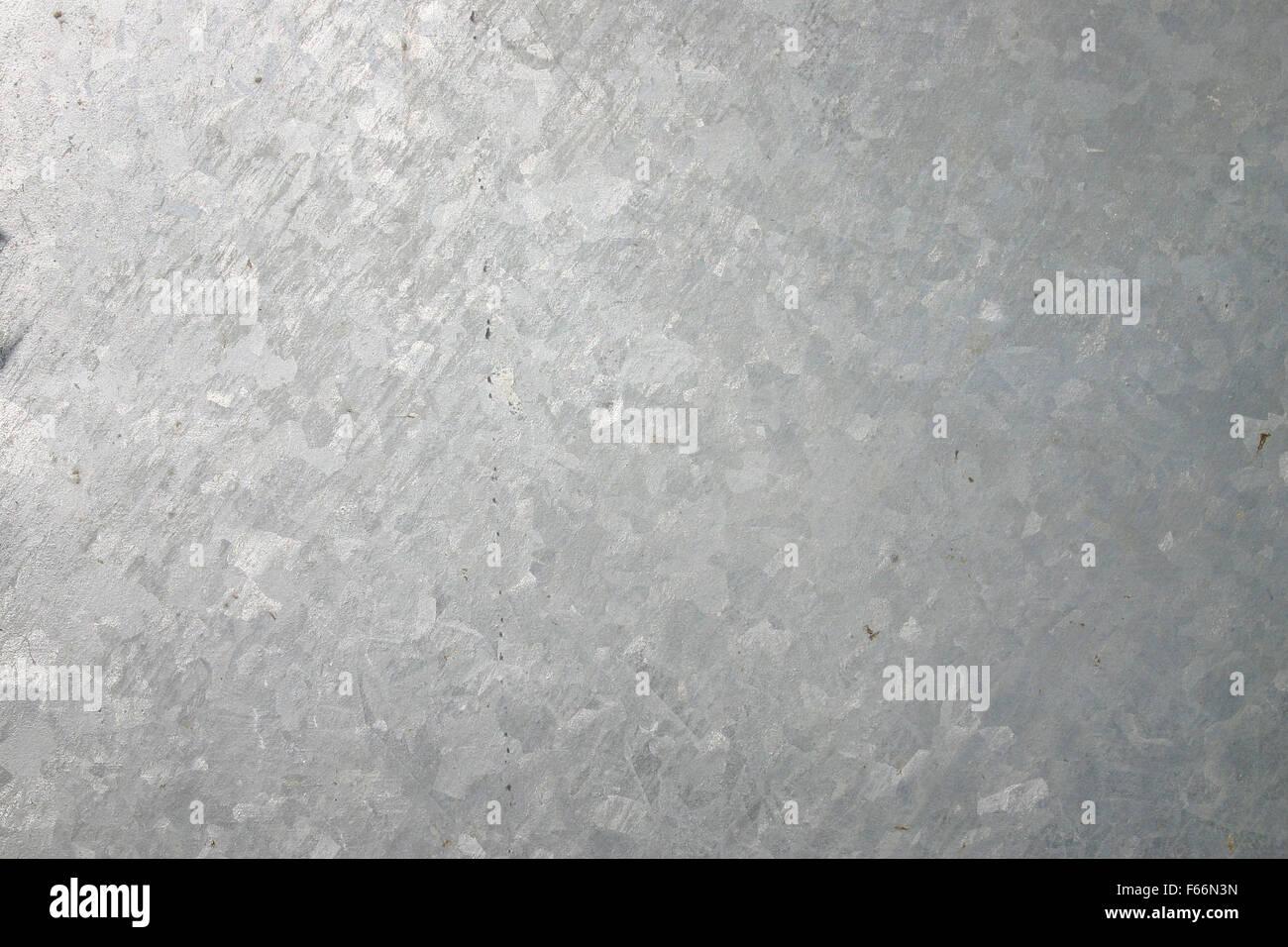 Galvanized plate - Stock Image
