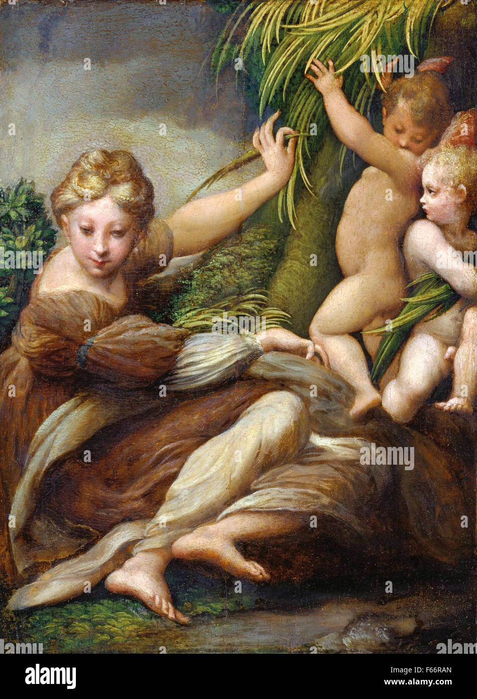 Parmigianino - Martyr with two Angels - Stock Image