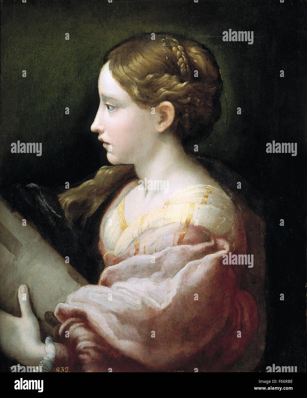 Parmigianino - Sainte Barbara - Stock Image