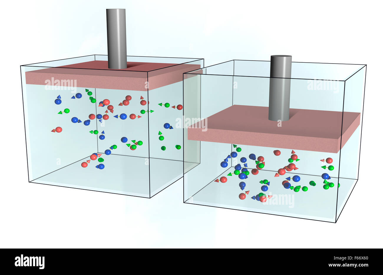 kinetic theory of gases - Stock Image