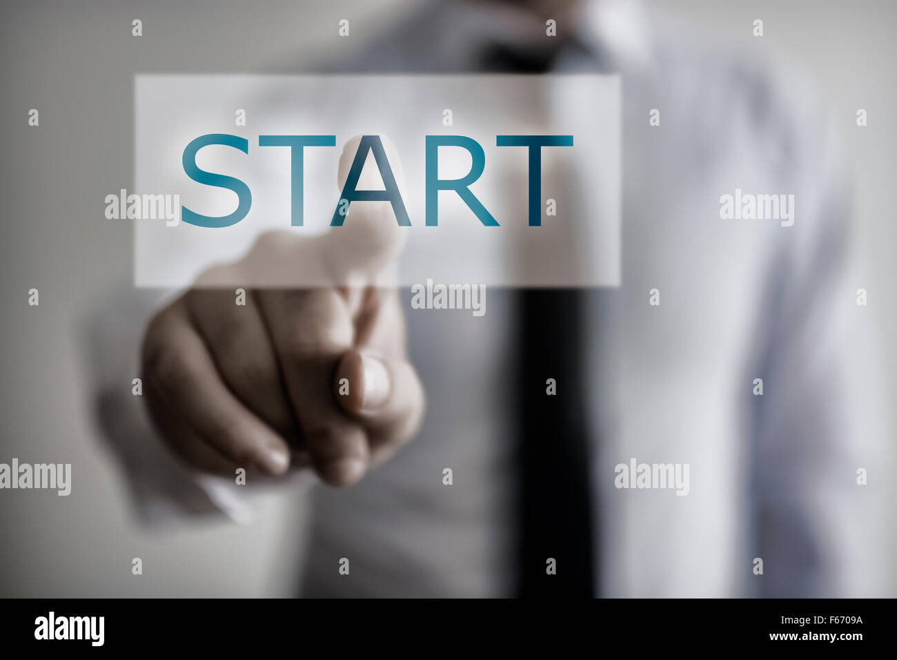 Start Button - Stock Image