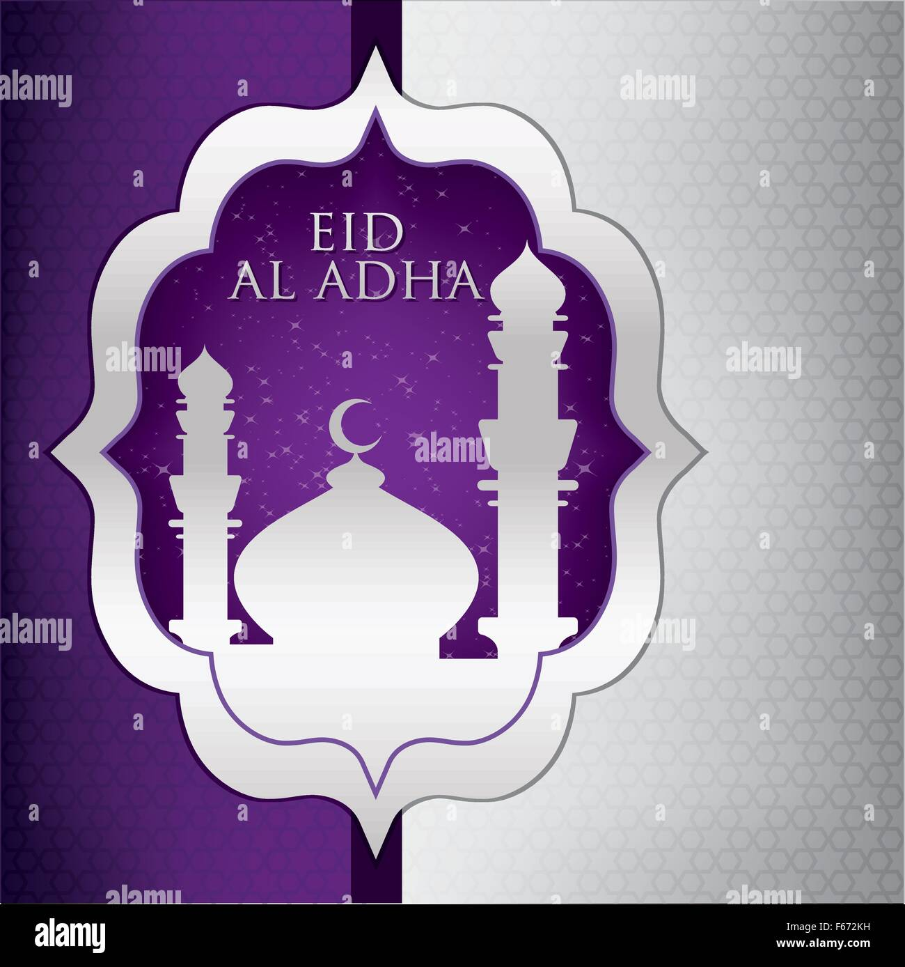 mosque eid al adha card in vector format stock vector art
