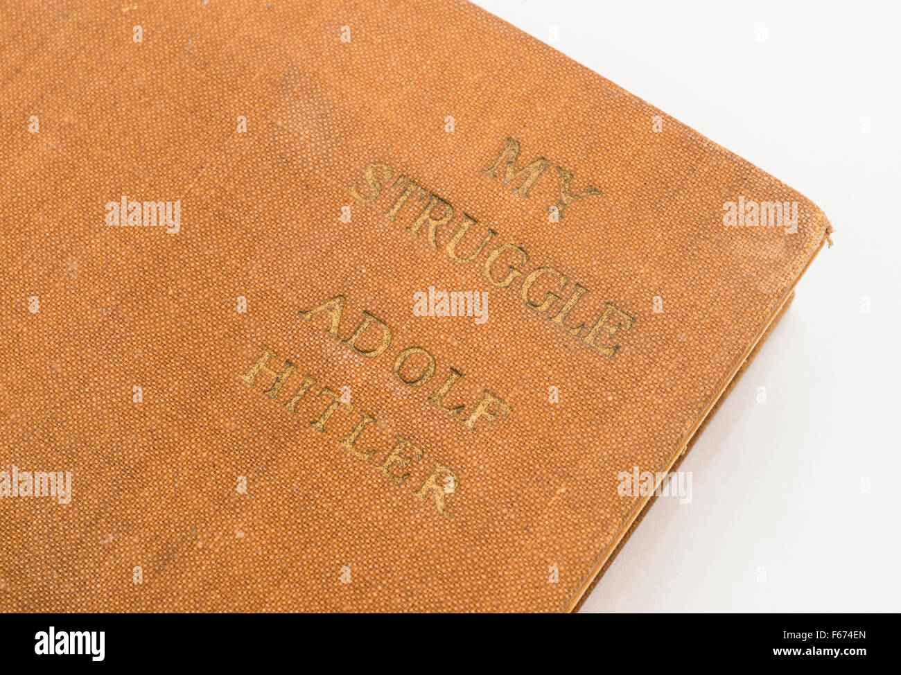 'My Struggle' (Mein Kampf) by Adolf Hitler. - Stock Image