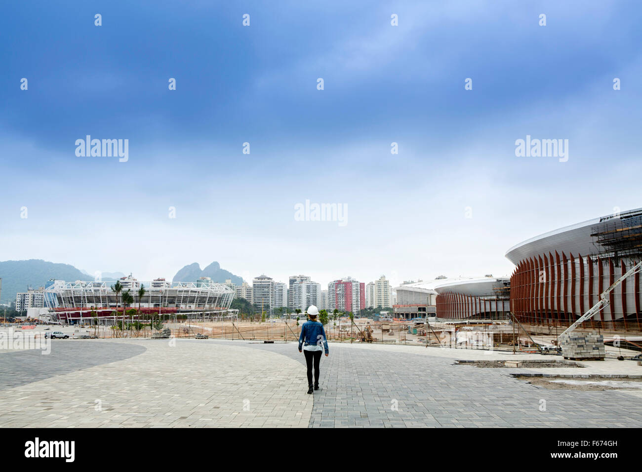 Rio de Janeiro Olympic park in Barra da Tijuca, Rio de Janeiro - Stock Image