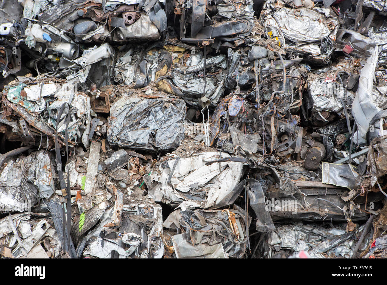 A car recycling scrap yard - Stock Image