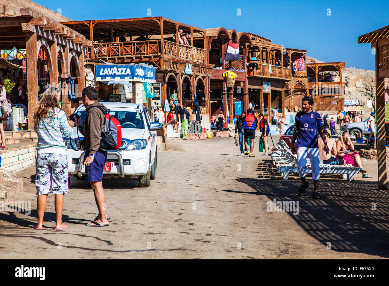 The scuba diving and snorkelling centre in Dahab, Egypt. - Stock Image