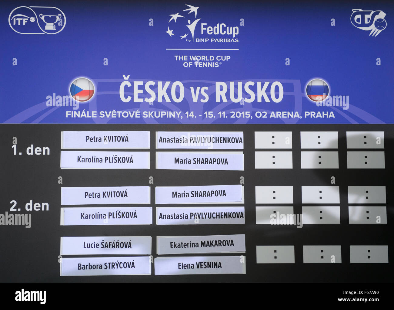Tennis Draw Of Fed Cup Final Czech Republic Russia Takes Place At