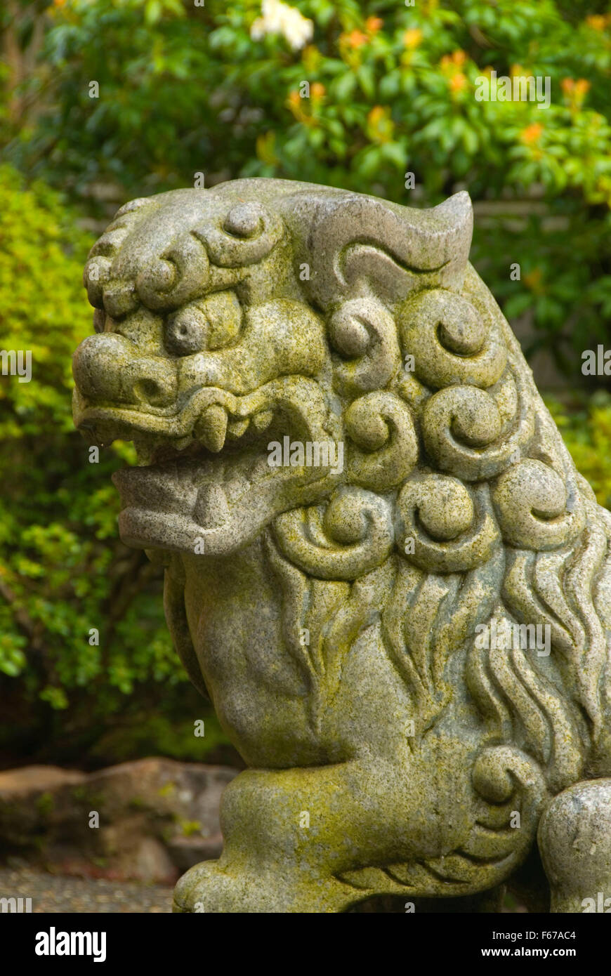 Lion/dog Statue, Portland Japanese Garden, Washington Park, Portland, Oregon