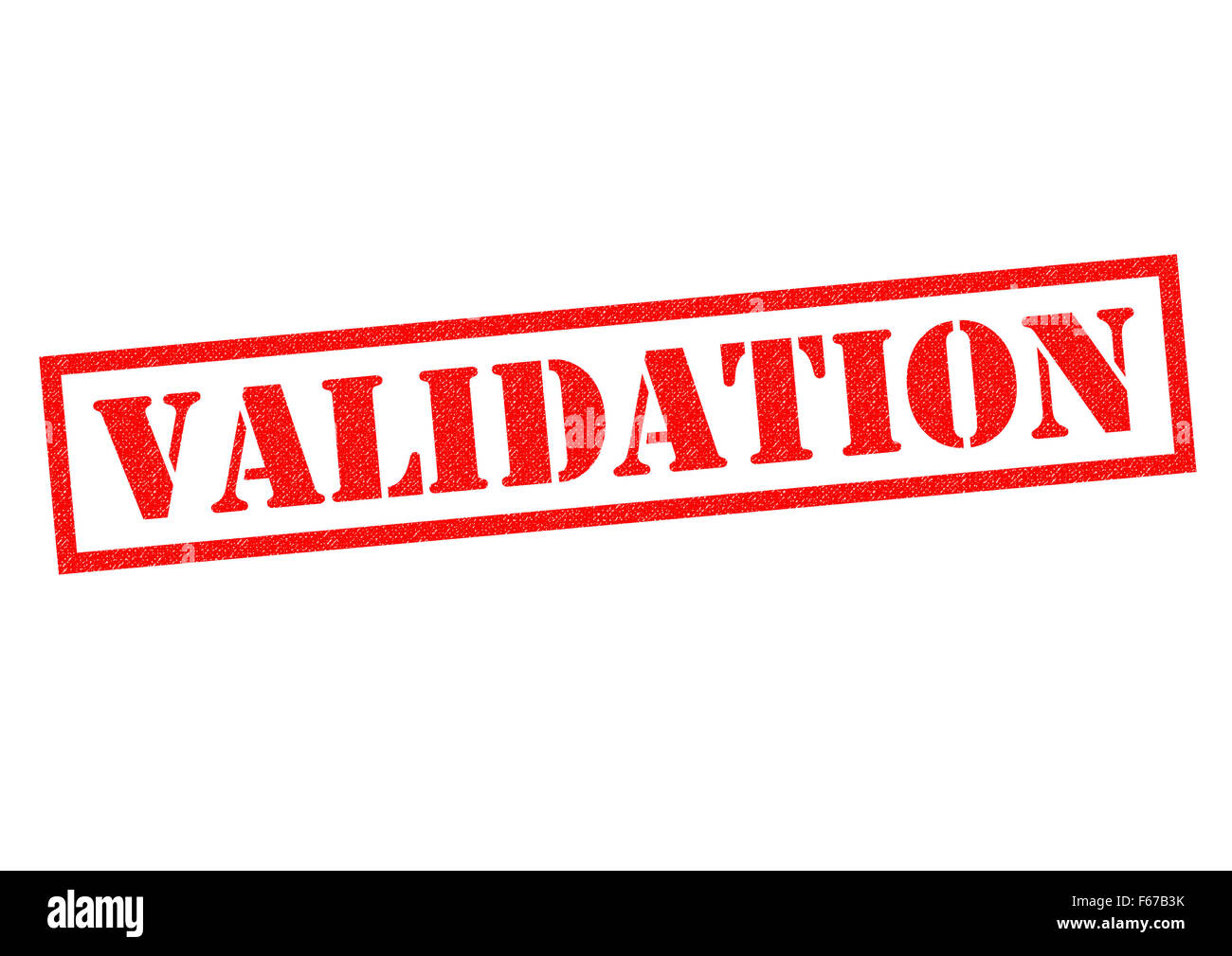 VALIDATION red Rubber Stamp over a white background. Stock Photo