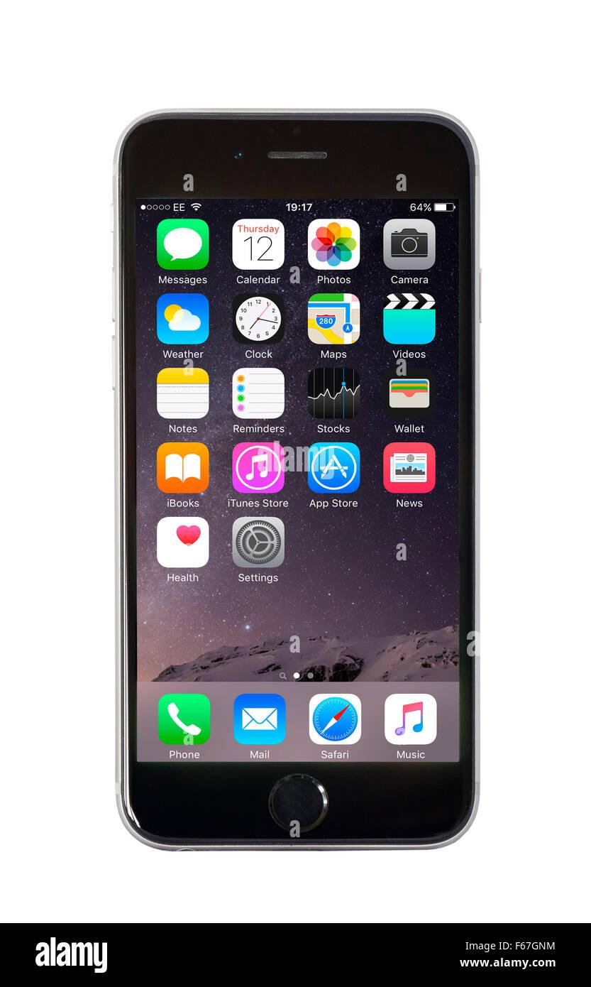 Default Home Screen On Apple Iphone 6 Stock Photo 89906592 Alamy