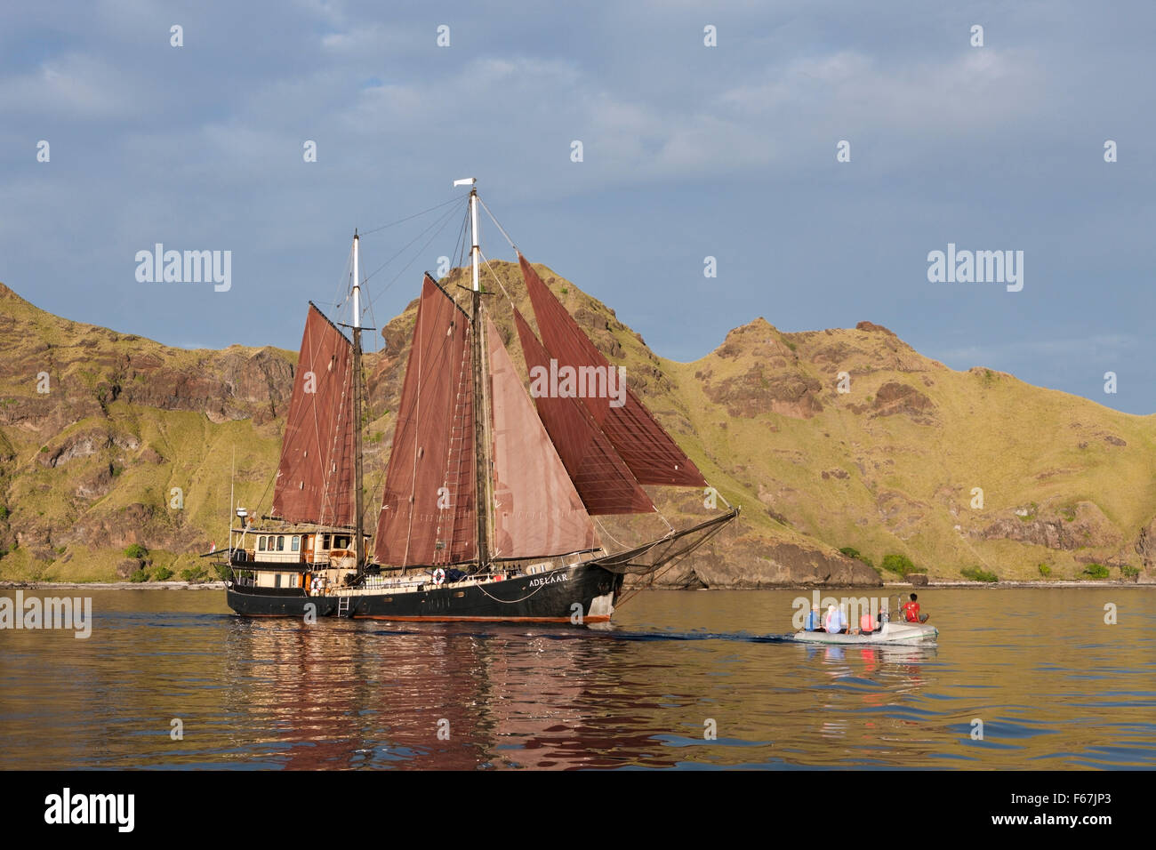 Sailing Ship Adelaar Stock Photos Komodo Scuba Diving Liveaboard Ss Near National Park Indonesia Image