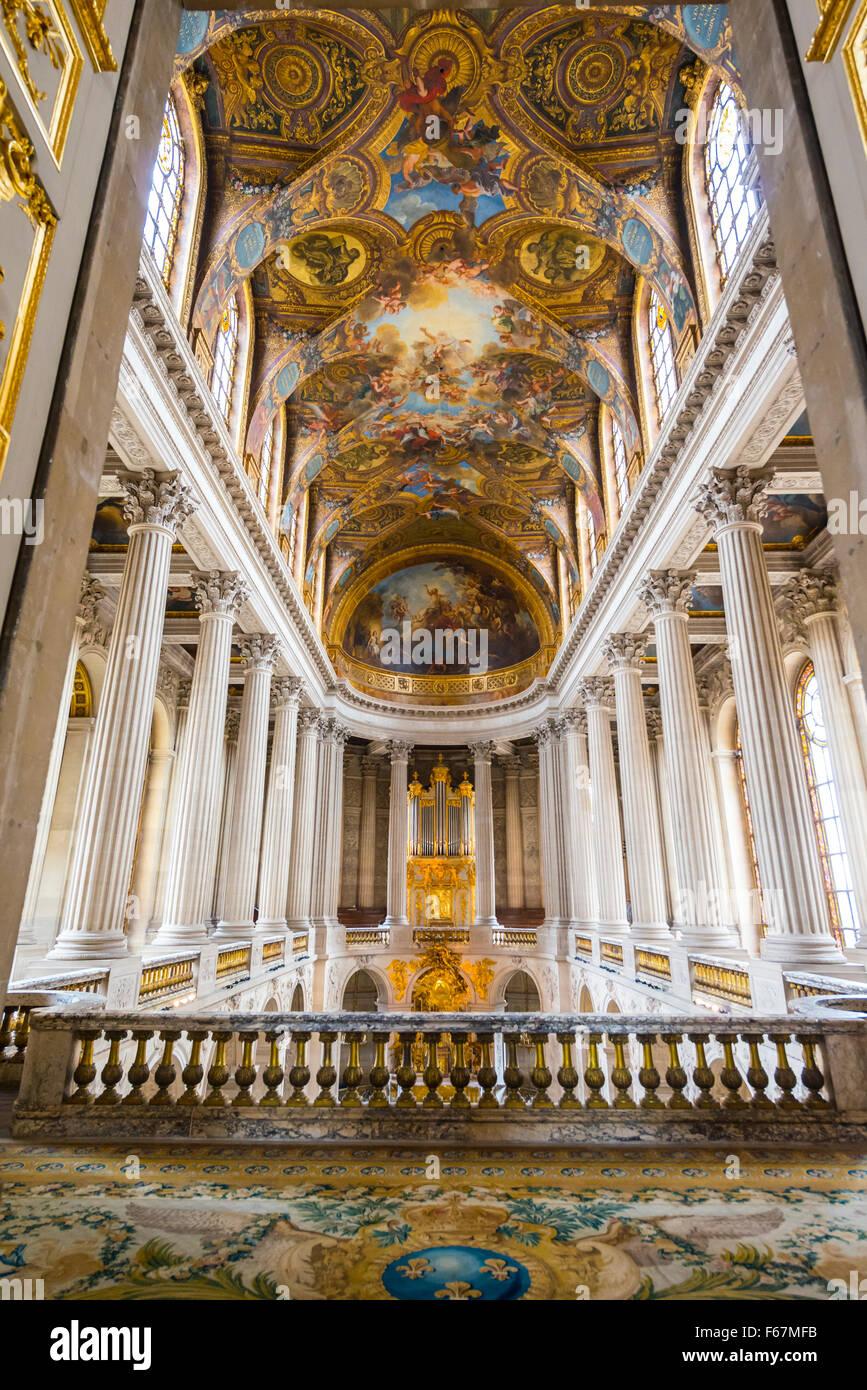 Chapel in Palace of Versailles, UNESCO World Heritage Site, Yvelines, Region Ile-de-France, France Stock Photo