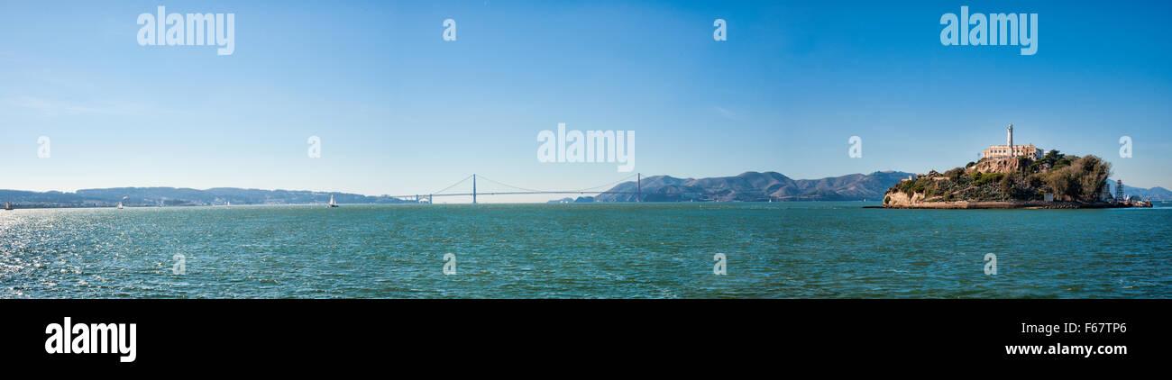 ALCATRAZ ISLAND, CA - NOV 6, 2015: Alcatraz Island is known for Alcatraz Federal Penitentiary and it is now a tourist - Stock Image