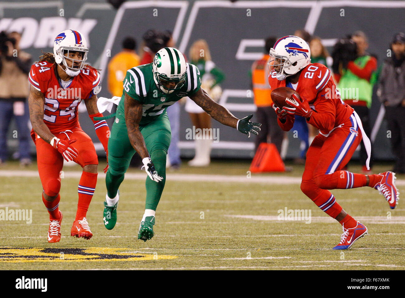 East Rutherford, New Jersey, USA. 12th Nov, 2015. Buffalo Bills free