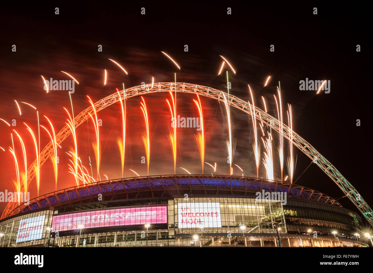 new concept 4adae 709bc 13 November 2015. A fireworks display takes place at Wembley Stadium in  honour of Indian Prime Minister Modi who was special guest at a gathering  for 55,000 ...