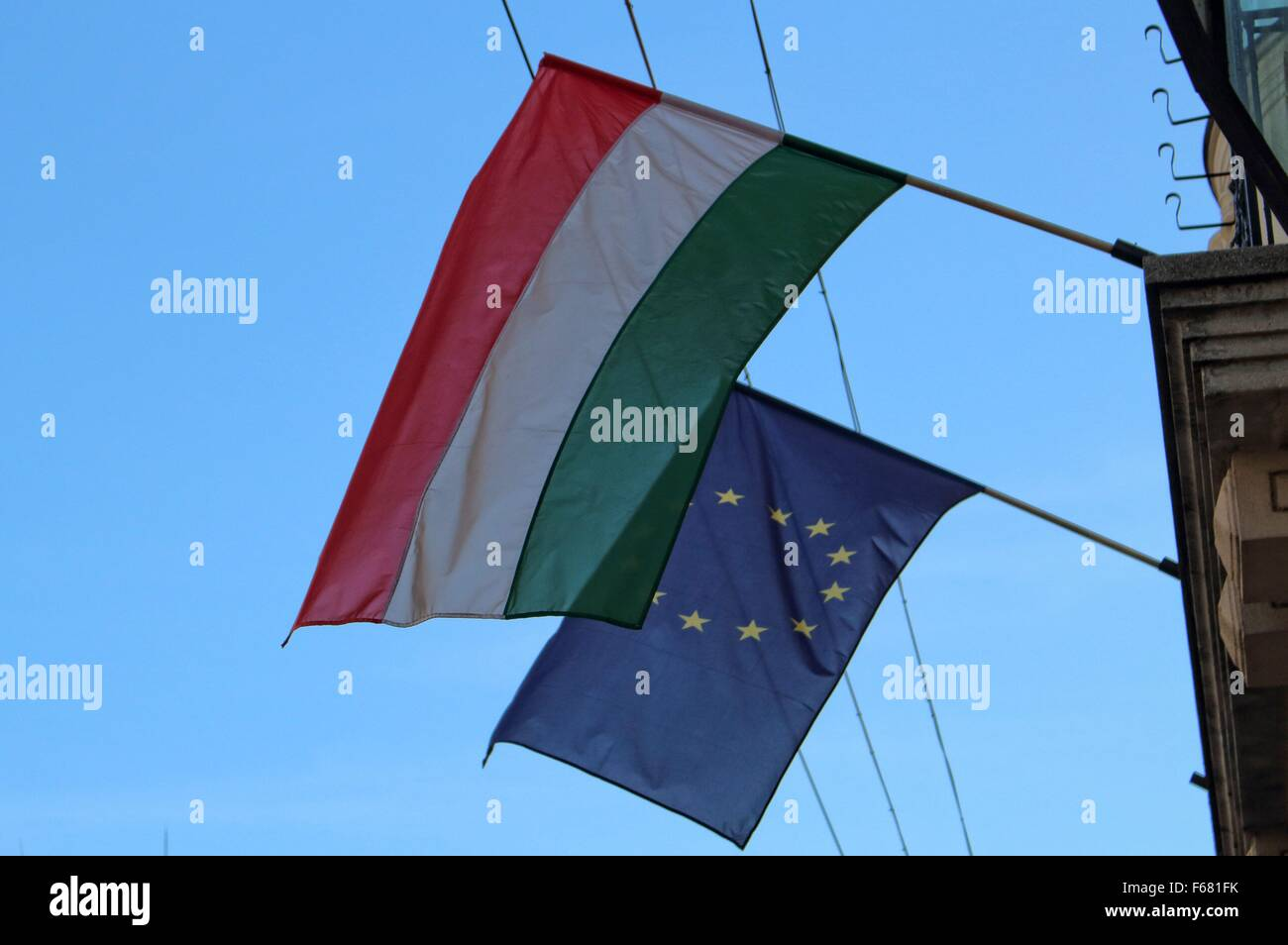 Hungary, Miskolc 13th, Nov. 2015 People enjoy sunny and warm weather in the  northeastern Hungarian City of Miskolc. - Stock Image