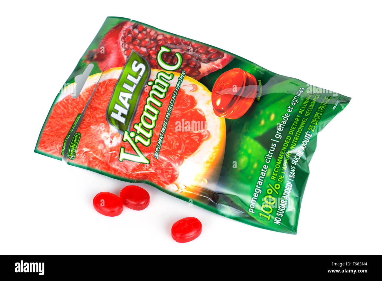 Packet of Lozenges Vitamin C Drops - Stock Image