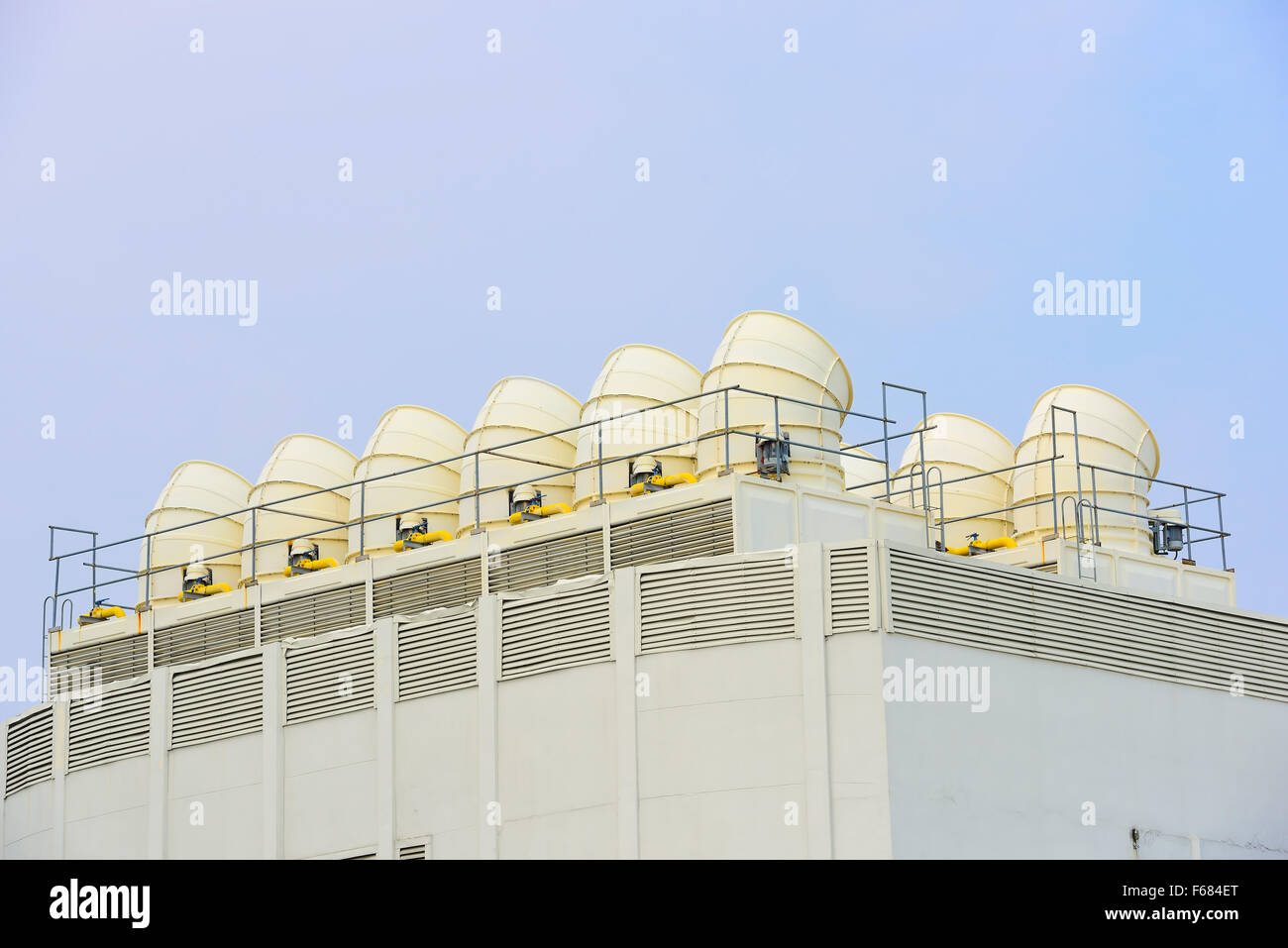 Industrial air conditioner on the roof - Stock Image
