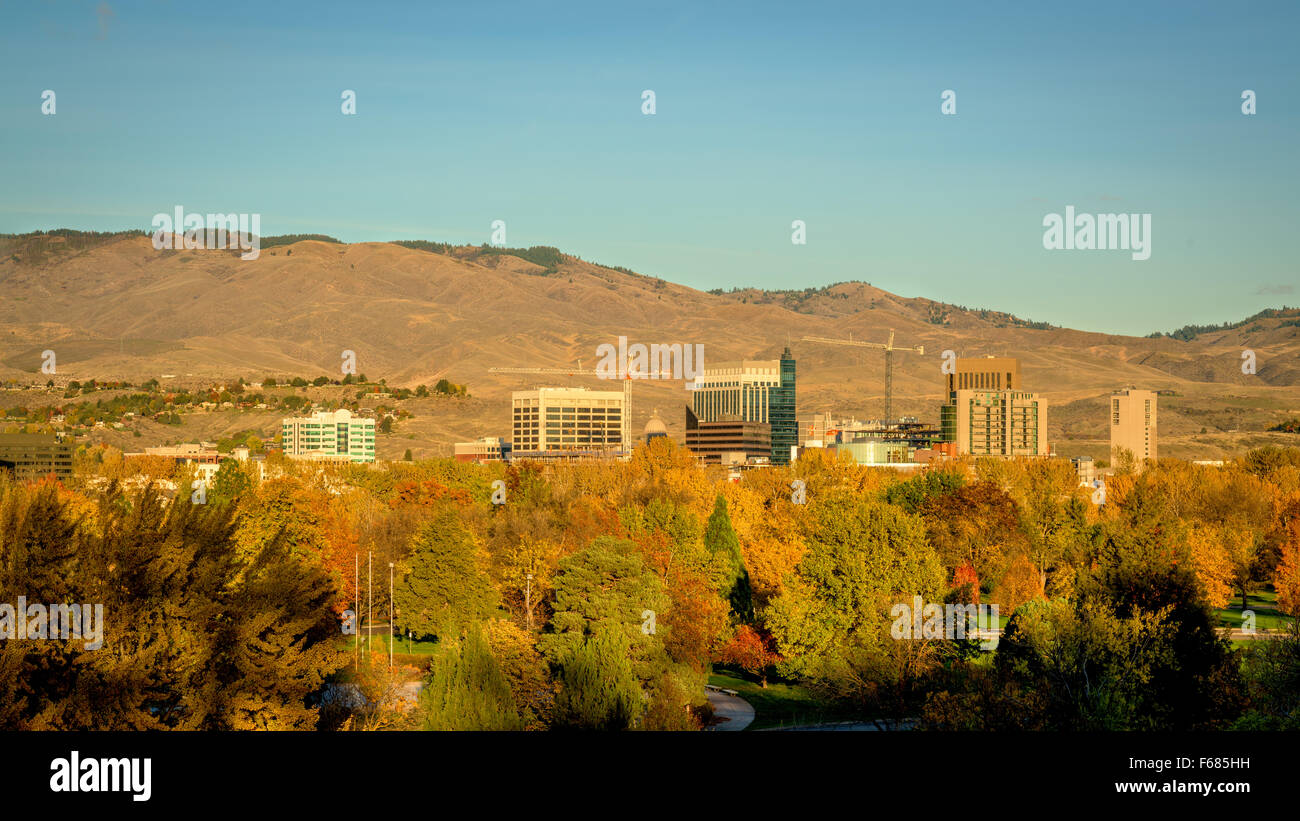 Boise Idaho Skyline Stock Photos & Boise Idaho Skyline Stock Images ...