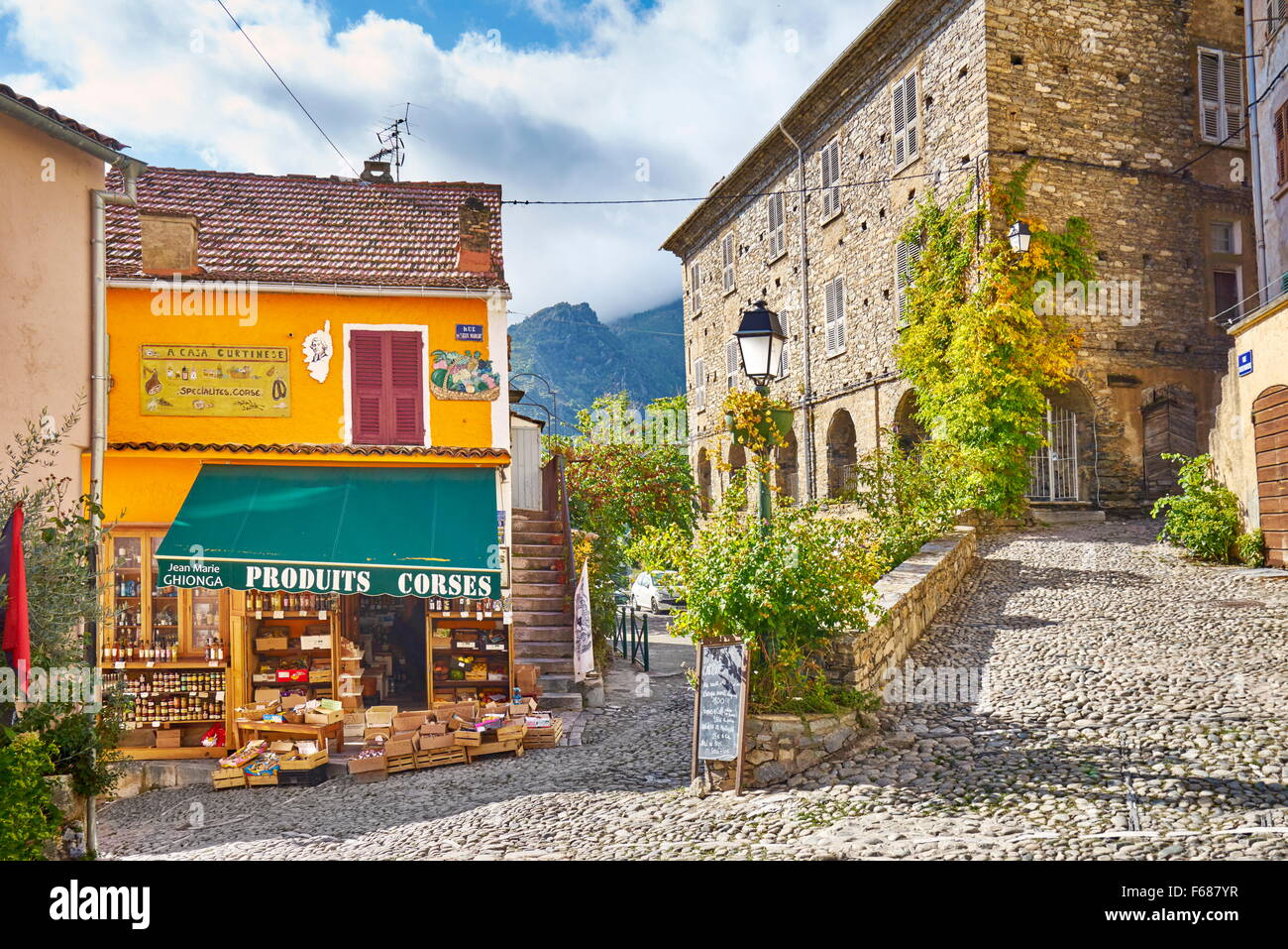 Corte Old Town, Corsica Island, France - Stock Image